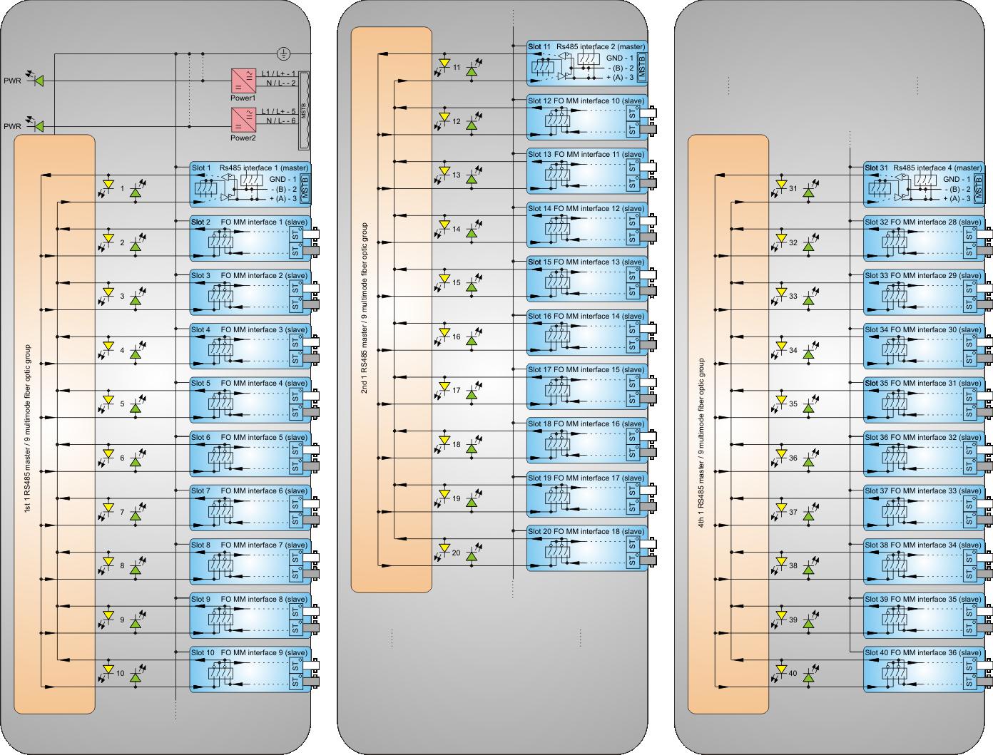 Rs232rs485fiber Optics100base Tx100base Fx Converters Coupler Schematic
